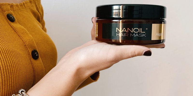 Maske mit Algen fettige Haare Nanoil