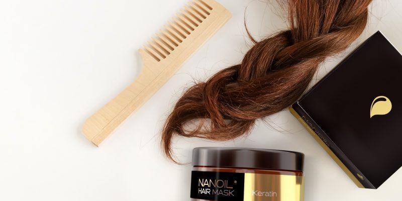 Haarmasken mit Keratin Nanoil